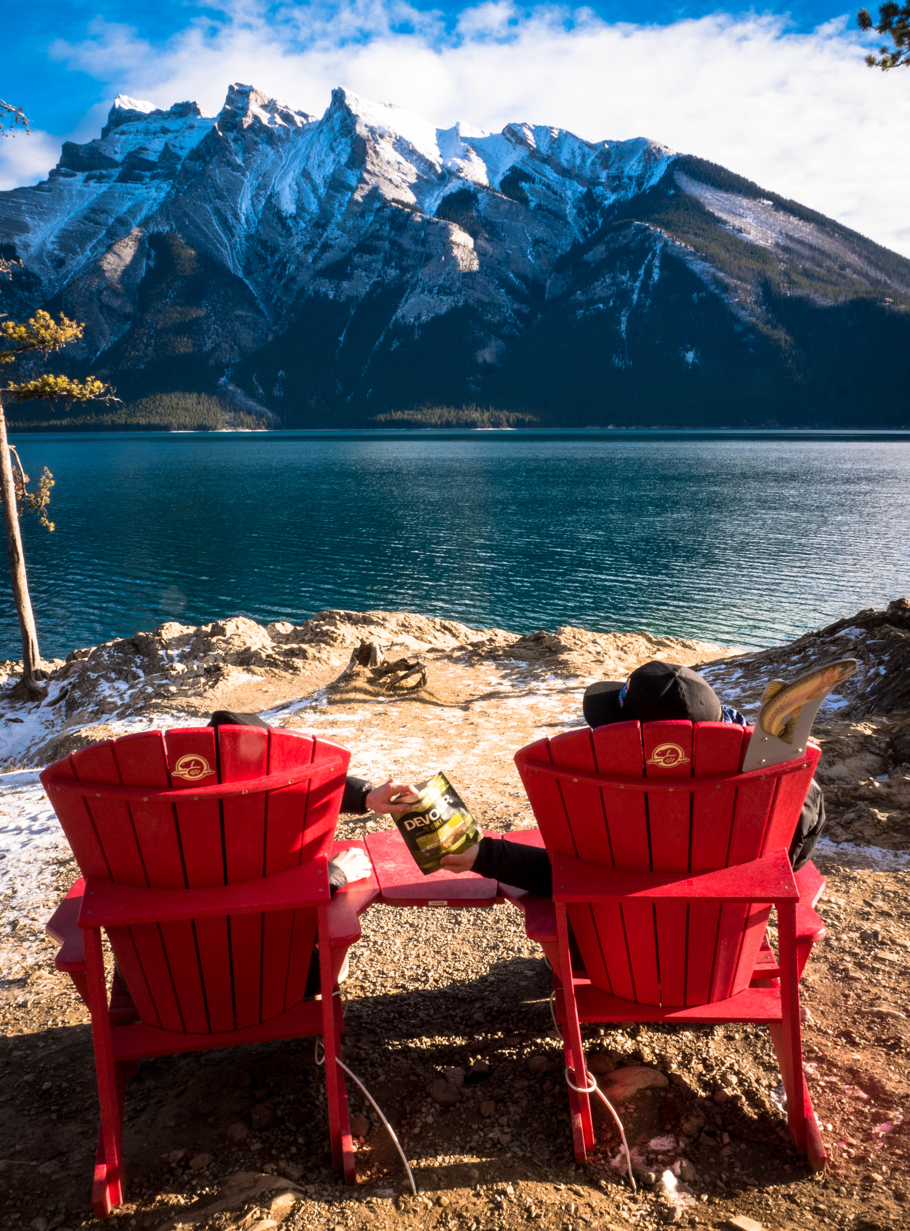 devour-cao-ab-landmark-banff-lake-minnewanka-with-red-chairs -sharing-jerky-3-edited & devour-cao-ab-landmark-banff-lake-minnewanka-with-red-chairs-sharing ...